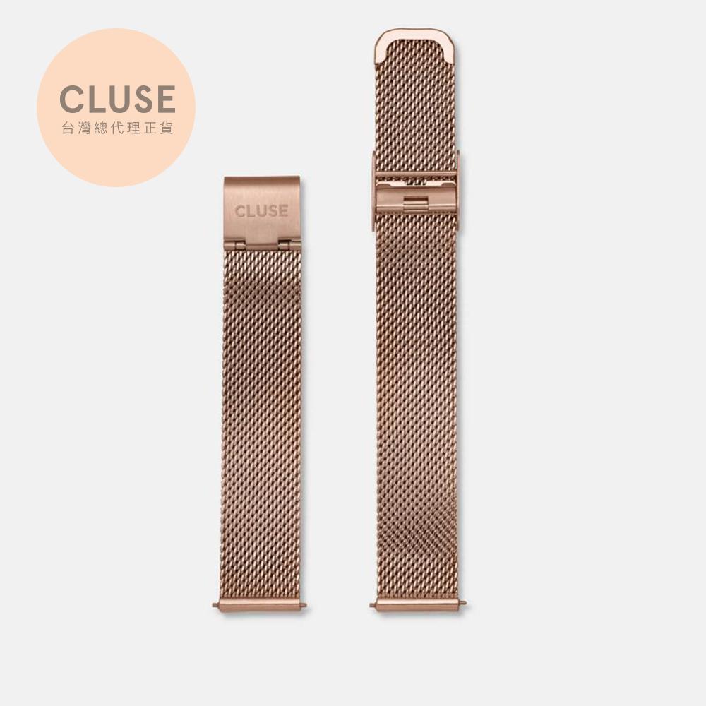 【公司貨】CLUSE Minuit 16mm 玫瑰金不鏽鋼錶帶(33mm錶款用)