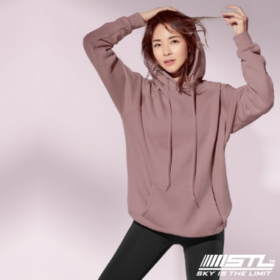 STL YOGA 韓國瑜珈 METRO HOODIE 運動休閒純色長版大連帽T 乾燥玫瑰DryRose