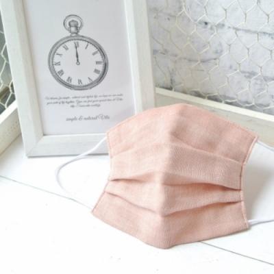 TEMARIYA 日本製 可水洗手作立體口罩M(素色)-粉