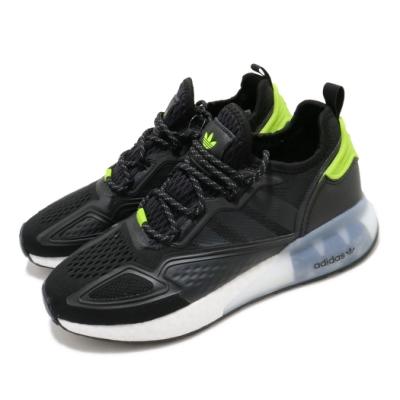 adidas 休閒鞋 ZX 2K Boost 襪套式 男鞋 愛迪達 三葉草 緩震 球鞋穿搭 黑 綠 FY4497