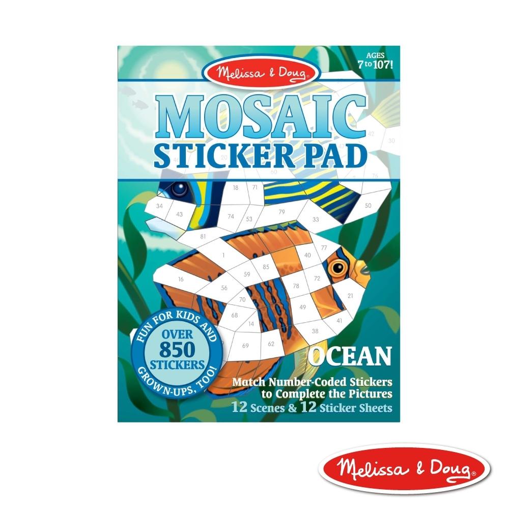 美國瑪莉莎 Melissa & Doug 貼紙簿 - 數字馬賽克貼, 海底生物
