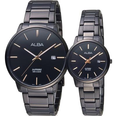ALBA 雅柏 一心一意經典對錶(AS9H35X1+AHR97X1)