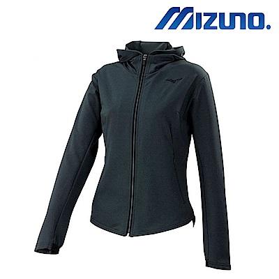 MIZUNO 美津濃 女針織運動套裝上衣 黑灰 32TC773209