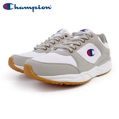 【Champion】HONEST 復古慢跑鞋 女鞋-白/灰(WFUS-9019-10)