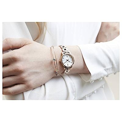 ALBA 雅柏 優雅甜心風采女錶(AH7P80X1)-銀x玫塊金/30mm
