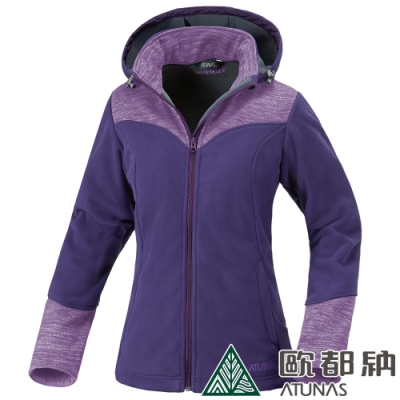 【ATUNAS 歐都納】女款Windstopper防風透氣保暖外套A-G1447W紫