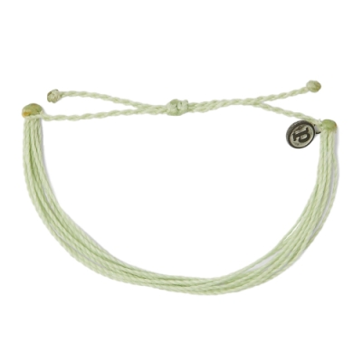 Pura Vida 美國手工 SOLID MINT GREEN薄荷綠 基本繽紛款可調式衝浪手環