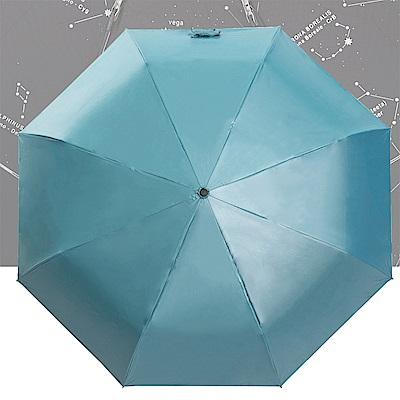 雙龍TDN 超輕量黑膠132cm超大傘面 晴雨傘/星空傘-天空藍