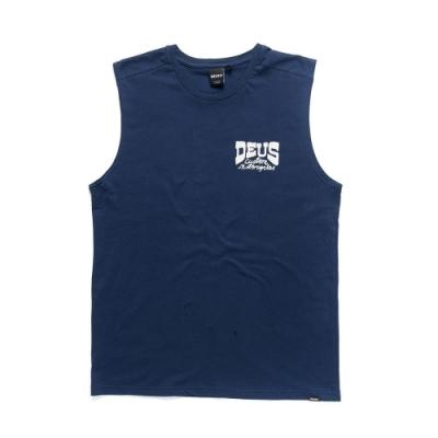 Deus Ex Machina  Spannar Muscle 無袖T恤 - 藍