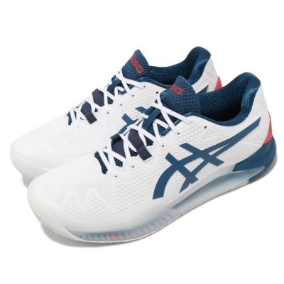 Asics 網球鞋 Gel-Resolution 8 2E 男鞋 亞瑟士 寬楦 緩衝 耐磨 亞瑟膠 白 藍 1041A113103