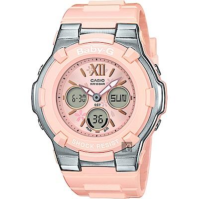 CASIO 卡西歐 Baby-G 櫻花甜美手錶-粉紅(BGA-110BL-4B)