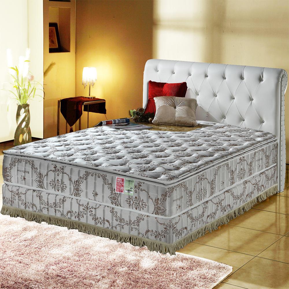 MG珍寶-正三線-超涼感抗菌-乳膠蜂巢獨立筒床-雙人加大6尺-護腰床