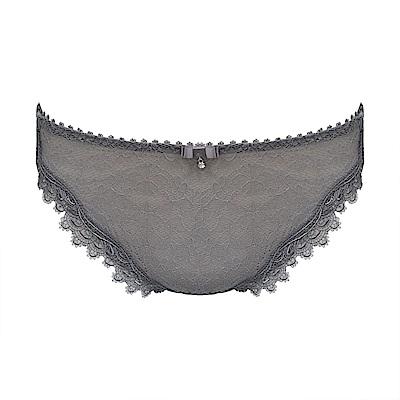 曼黛瑪璉 Marie One 蕾絲 低腰三角萊克內褲(低調灰)