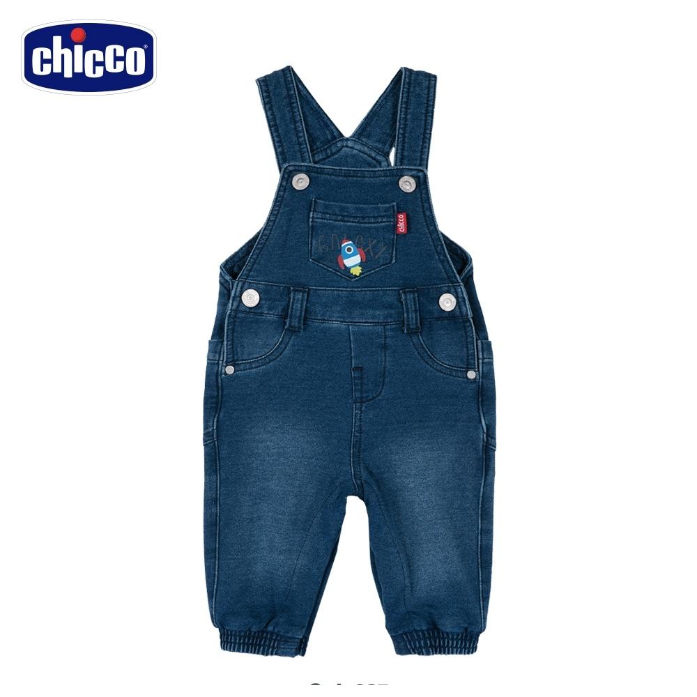 chicco-TO BE Baby-水洗牛仔吊帶長褲