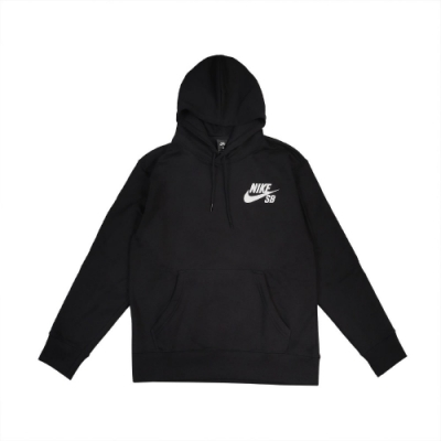 Nike 帽T Pullover Skate Hoodie 男 SB 滑板 連帽上衣 基本款 簡約 黑 白 CW7065010