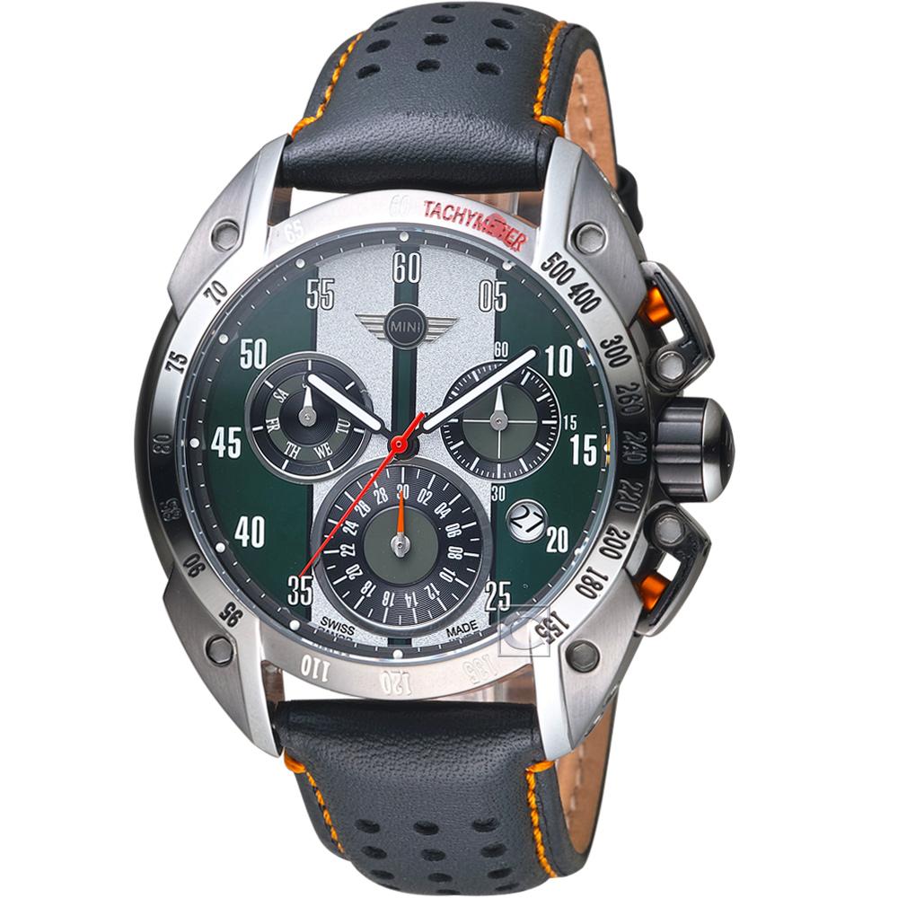 MINI Swiss Watches極速運動計時腕錶(MINI-160118)-綠