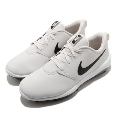 Nike 高爾夫球鞋 Roshe G Tour Wide 寬楦 男鞋 避震 包覆 皮革 簡約 運動 球鞋 白 黑 AR5579008