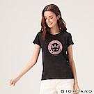 GIORDANO 女裝夢幻獨角獸系列印花T恤-02 標誌黑