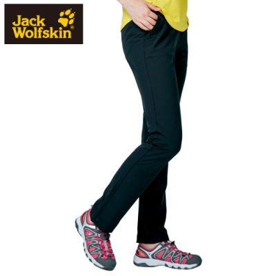 【Jack Wolfskin 飛狼】女 彈性快乾休閒長褲『黑色』