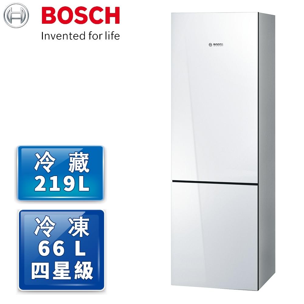 BOSCH 博世 8系列 獨立式上冷藏下冷凍玻璃門冰箱 純淨白 KGN36SW30D