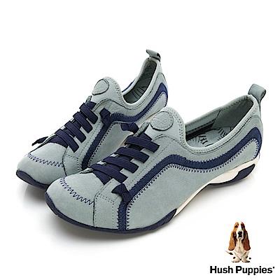 Hush Puppies QUALIFY 熱銷彈力休閒女鞋-水藍
