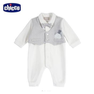 chicco-快樂企鵝-精選紳士背心剪毛絨前開兔裝(去腳套)