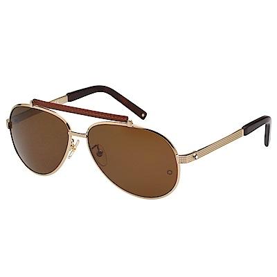 萬寶龍 MONTBLANC-太陽眼鏡(金色)MB454T