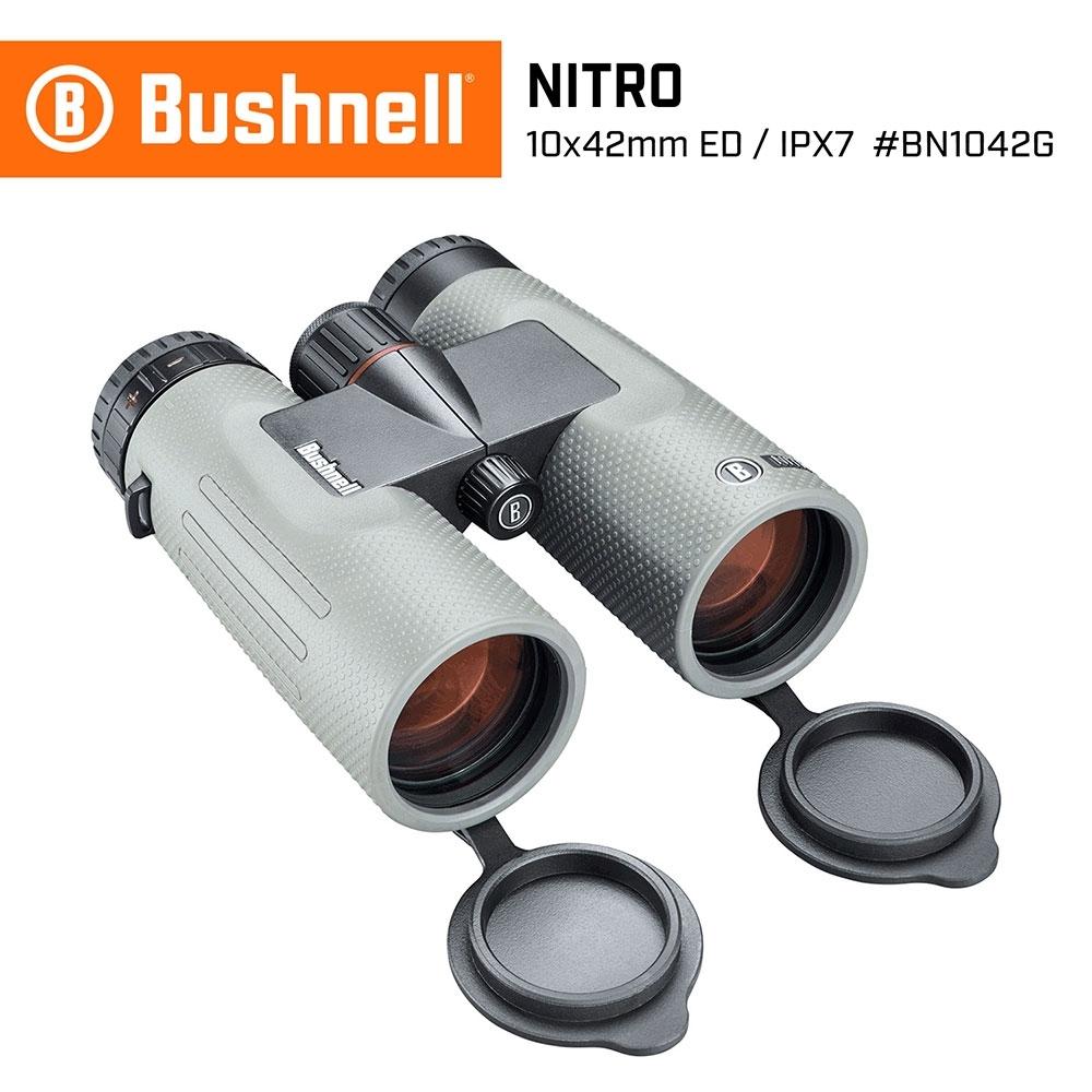 【美國 Bushnell 倍視能】Nitro 戰硝系列 10x42mm ED螢石中型雙筒望遠鏡 BN1042G (公司貨)