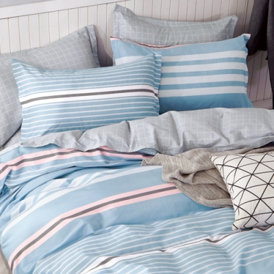 戀家小舖 / 單人床包枕套組 北歐記憶 100%精梳純棉