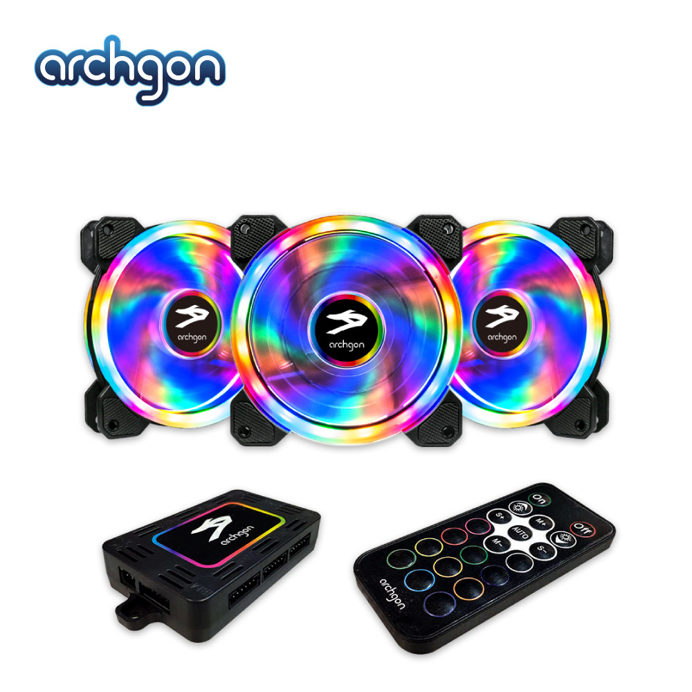 Archgon RGBCF23 Hanabi 30 PWM RGB 電競風扇組(3入)