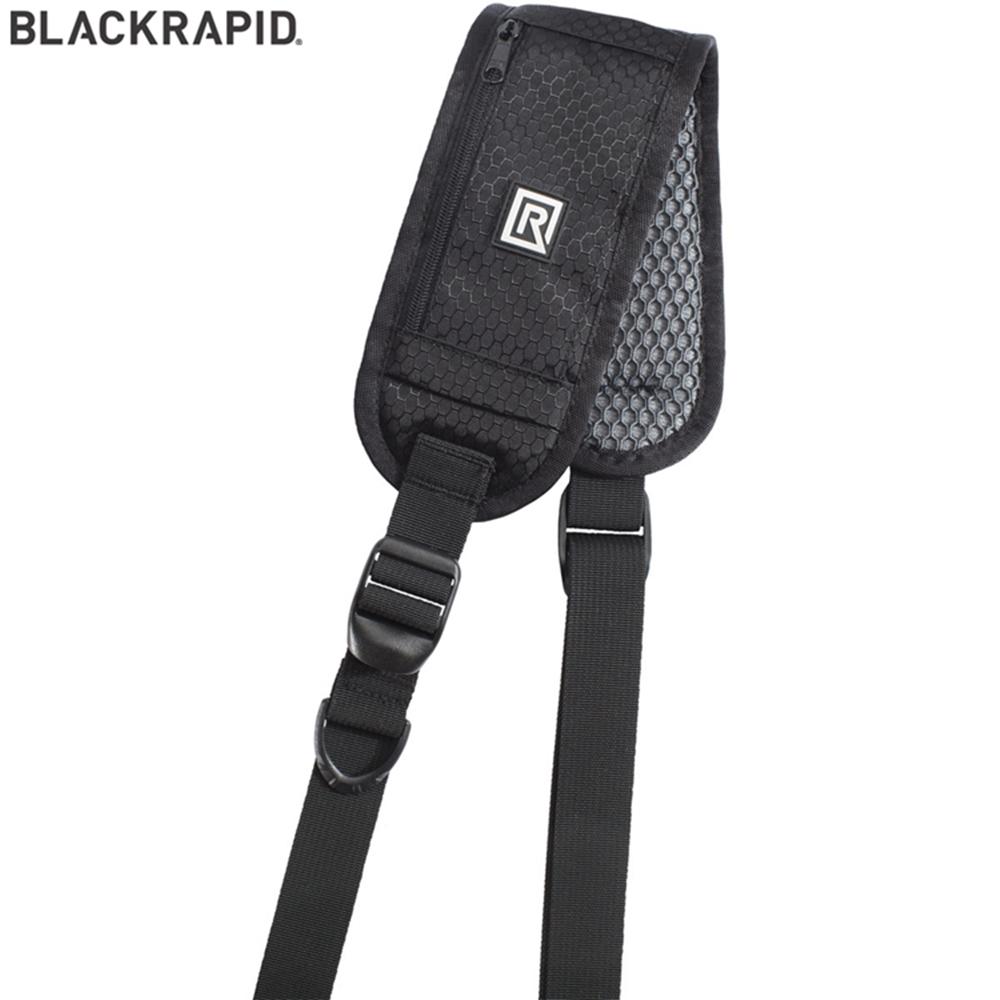 美國BlackRapid快槍俠斜揹相機減壓背帶RS-4 Classic Retro經典款小拉鍊口袋,可放置記憶卡或其他小物品