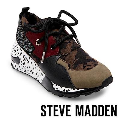 STEVE MADDEN-CLIFF 潮流款拼接時尚老爹鞋-墨綠色