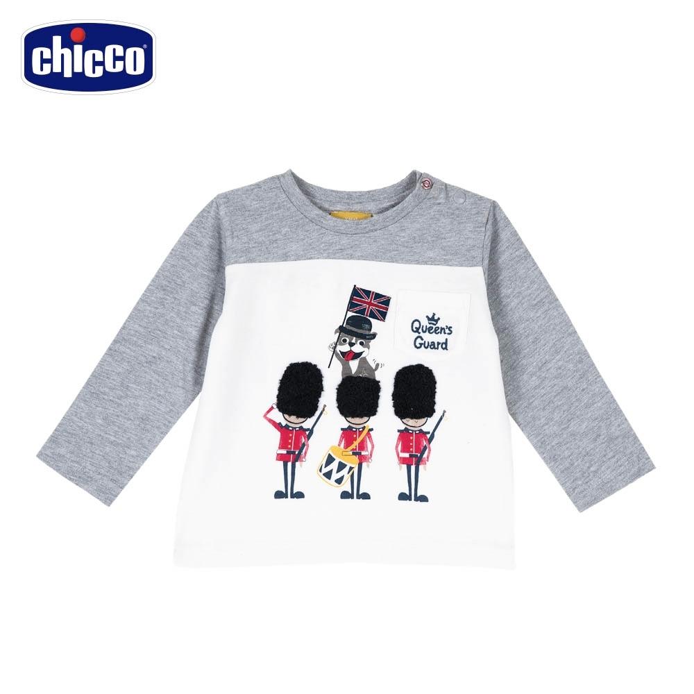 chicco-英倫衛兵-剪接長袖上衣