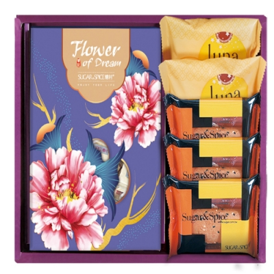 【糖村】紫艷盛開禮盒2組(附提袋)