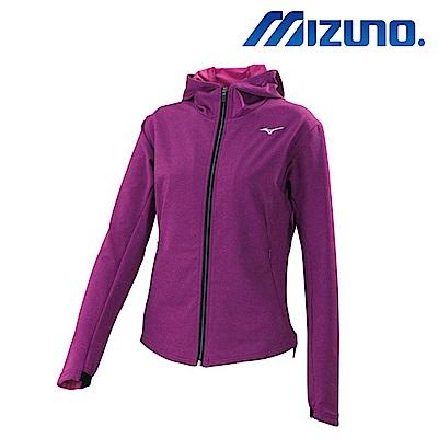 MIZUNO 美津濃 女針織運動套裝上衣 紫紅 32TC773267