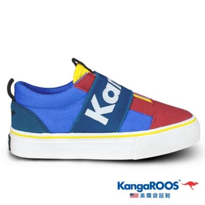 KangaROOS 美國袋鼠鞋 童 VISTA 帆布趣味童鞋(紅/藍/綠-KK01325)