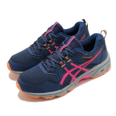 Asics 慢跑鞋 Gel Venture 8 D 寬楦 女鞋 亞瑟士 避震 緩衝 耐磨 亞瑟膠 藍 粉 1012A706402
