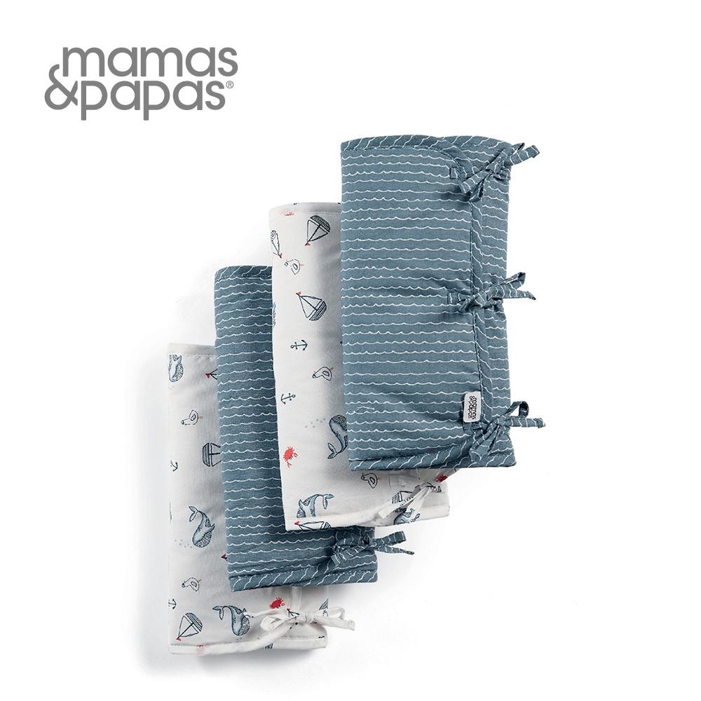 Mamas&Papas 芬多鯨(床圍8入-綁帶)