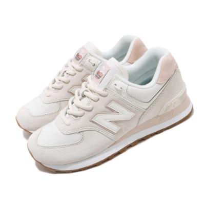 New Balance 休閒鞋 WL574SAY B 運動 女鞋 紐巴倫 經典款 簡約 麂皮 球鞋 穿搭 米白 粉 WL574SAYB