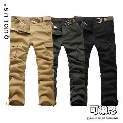 可樂思 外貿款 多口袋 工裝褲 軍裝褲