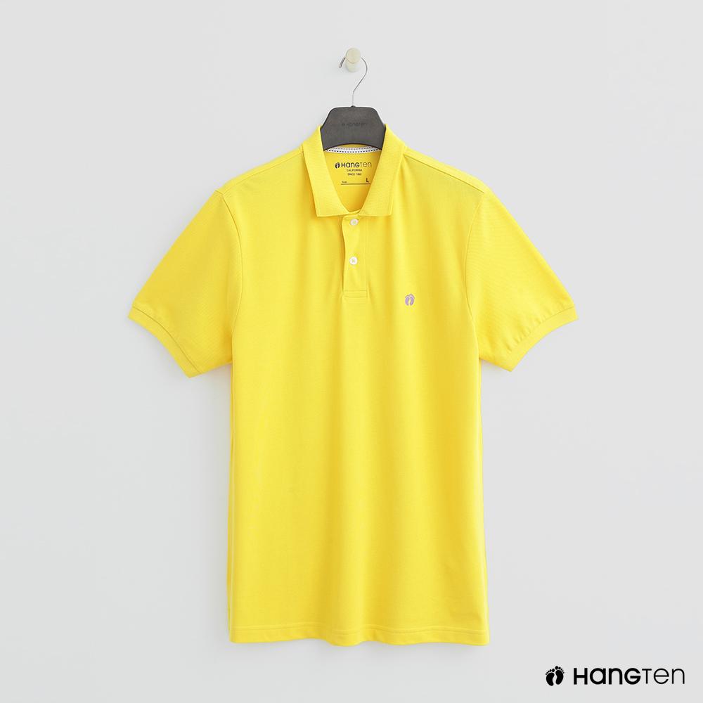 Hang Ten - 男裝 - 簡約素面POLO杉 - 黃