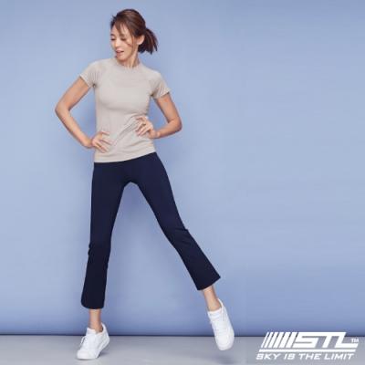 STL YOGA METRO NY 9 韓國瑜珈 地鐵合身小喇叭 運動機能訓練長褲 墨水藍