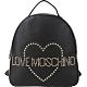 LOVE MOSCHINO 心型鉚釘牛皮後背包(黑色) product thumbnail 1