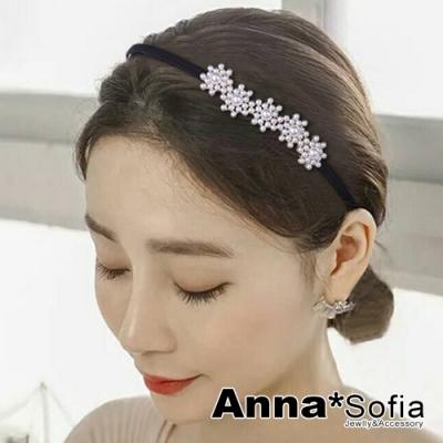 AnnaSofia 珠彩圓雪花 韓式髮飾細髮箍