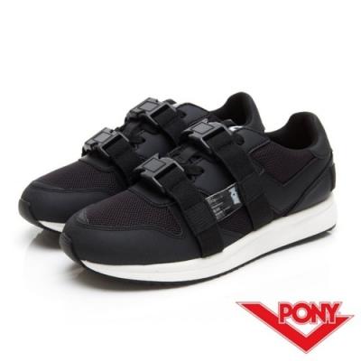 【PONY】TRIBECA系列個性風格潮流運動慢跑鞋 運動鞋 男鞋 黑色