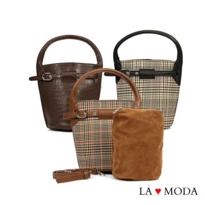 La Moda 時尚Look注目度激增多背法肩背斜背手提水桶包子母包