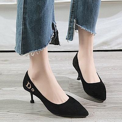 KEITH-WILL時尚鞋館 歐洲款純淨簡約細跟鞋-黑色