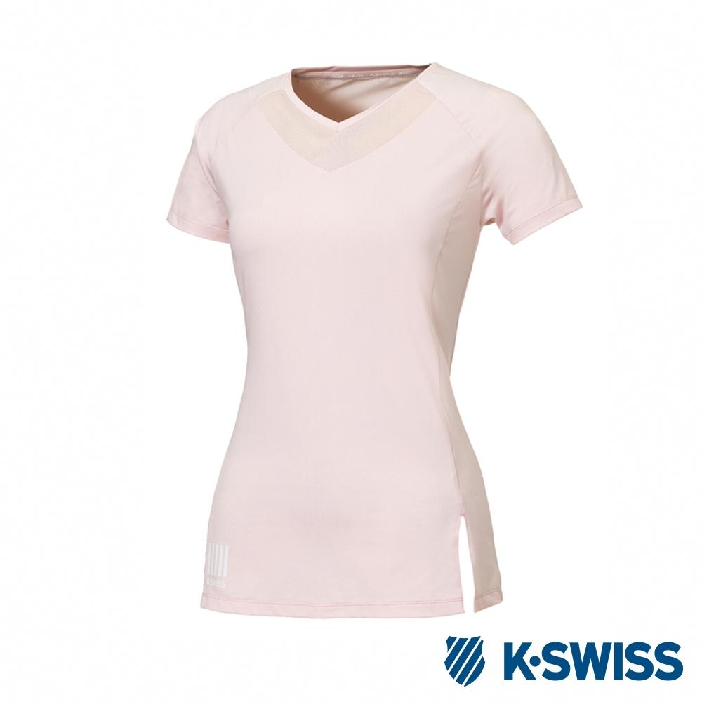 K-SWISS T-Shirt 韓版短袖T恤-女-蜜桃