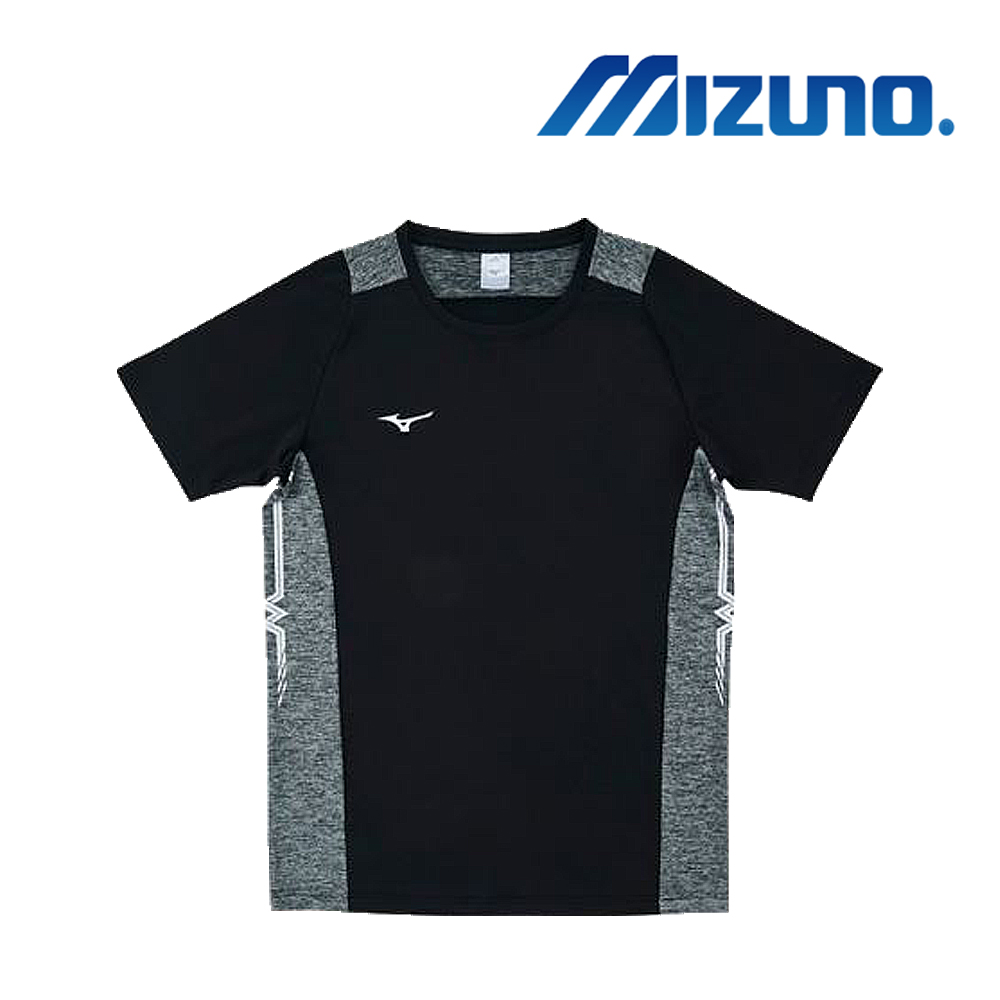 MIZUNO 美津濃 男女短袖排球T恤 黑 V2TA8G1909