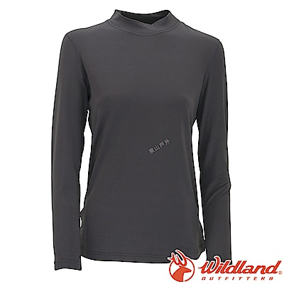 Wildland 荒野 W2651-93深灰 女遠紅外線保暖中領衛生衣